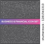 business and financial vector... | Shutterstock .eps vector #1281561313