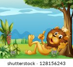 Illustration Of A King Lion...
