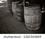 Four Barrels A Row Black - Fine Art prints