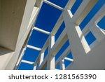 white architecture bridge with... | Shutterstock . vector #1281565390