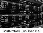 stock exchange market in black... | Shutterstock . vector #1281566116