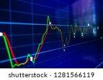 stock exchange market graph on... | Shutterstock . vector #1281566119
