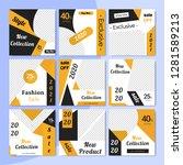 9 slides unique editable modern ... | Shutterstock .eps vector #1281589213