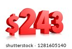 243  two hundred and forty... | Shutterstock . vector #1281605140