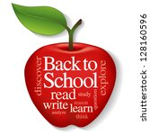 back to school word cloud. big... | Shutterstock .eps vector #128160596