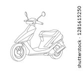 black outline vector motorike... | Shutterstock .eps vector #1281615250