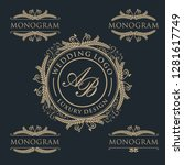 luxury template logo design | Shutterstock .eps vector #1281617749