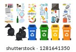 rubbish bins for recycling... | Shutterstock .eps vector #1281641350