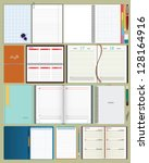 collection of vector notebooks | Shutterstock .eps vector #128164916