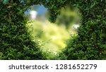 heart green leaves | Shutterstock . vector #1281652279
