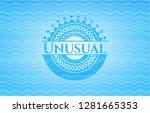 unusual sky blue water wave... | Shutterstock .eps vector #1281665353