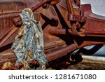 rusty old machinery with rag... | Shutterstock . vector #1281671080