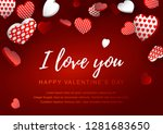 valentines day horizontal... | Shutterstock .eps vector #1281683650