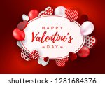 valentines day horizontal... | Shutterstock .eps vector #1281684376