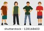 white school aged boys   Shutterstock .eps vector #128168603