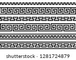 meander pattern. greek fret... | Shutterstock .eps vector #1281724879