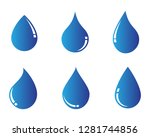 water drop logo template vector ... | Shutterstock .eps vector #1281744856