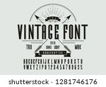 vintage stylish alphabet with... | Shutterstock .eps vector #1281746176