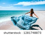 Girl Relaxing On The Beach ...