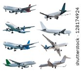 Rel Jet Planes Set  Isolated O...