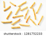 scattered thin straight fried...   Shutterstock . vector #1281752233