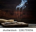 Burning Charcoal And Incense...