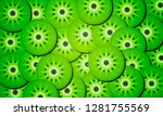 background from circles of kiwi | Shutterstock .eps vector #1281755569