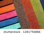 clear cut textile background in ... | Shutterstock . vector #1281756886