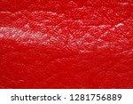 impressively red leatherette... | Shutterstock . vector #1281756889