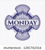 blue rosette or money style...   Shutterstock .eps vector #1281762316