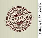 red nutritious distress rubber... | Shutterstock .eps vector #1281762406