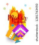 celebrate makar sankranti... | Shutterstock .eps vector #1281763450