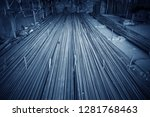 steel rebar for reinforcement... | Shutterstock . vector #1281768463