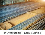 steel rebar for reinforcement... | Shutterstock . vector #1281768466