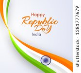 card of the happy republic day... | Shutterstock .eps vector #1281777679