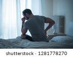 man waking up in the morning... | Shutterstock . vector #1281778270