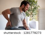 one man suffering back pain... | Shutterstock . vector #1281778273
