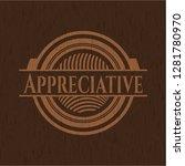appreciative retro style wooden ...   Shutterstock .eps vector #1281780970