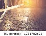 narrow street in verona  italy. ... | Shutterstock . vector #1281782626