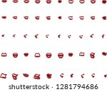50 female mouth positions with... | Shutterstock . vector #1281794686