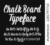 chalk board typeface.... | Shutterstock .eps vector #1281797710
