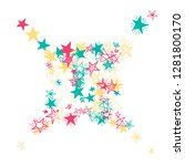 doodle stars. hand drawn... | Shutterstock .eps vector #1281800170