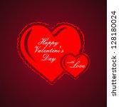 valentine's day | Shutterstock .eps vector #128180024