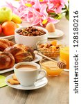 breakfast including coffee ... | Shutterstock . vector #128180216