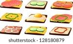 vector illustration of slices...   Shutterstock .eps vector #128180879