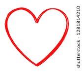 heart vector isolated on white... | Shutterstock .eps vector #1281814210