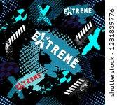 abstract grunge sport pattern... | Shutterstock .eps vector #1281839776