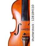 violin close up on white... | Shutterstock . vector #128184110