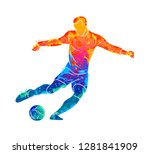 abstract professional soccer...   Shutterstock .eps vector #1281841909