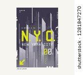 new york city t shirt abstract... | Shutterstock .eps vector #1281847270